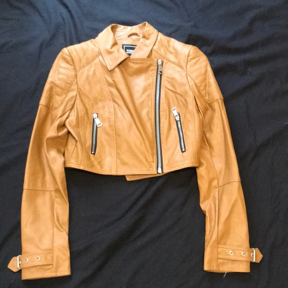 Foreign Exchange Jackets & Blazers - Crop leather jacket